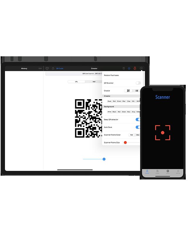 QR Code Scanner,QR Creator ,Barcode Scanner